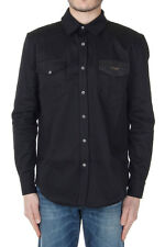 GIVENCHY Men Black Cotton Long Sleeved Shirt New with Tag Original