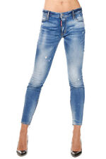 DSQUARED2 New woman Blue TWIGGY Stretch Denim Jeans made in Italy NWT