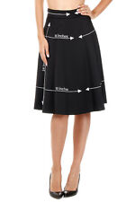 MOSCHINO COUTURE New Women Black Embroidery Wool Blend Skirt NWT