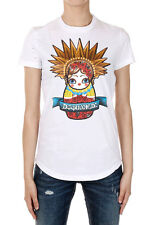 DSQUARED2 Dsquared² Women Round Neck Printing Short Sleeve T-shirt Made in Italy