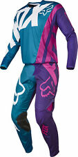 Fox Racing Mens Teal Blue/Pink/Purple/White 360 Creo Dirt Bike Jersey Pants Kit