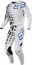 Fox Racing Mens White/Black/Blue 360 Grav Airline Dirt Bike Jersey & Pants Kit