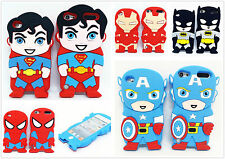 3D Cartoon For iPod Touch 4/5/6 Super Heroes Silicone Soft Back Case Cover Skin
