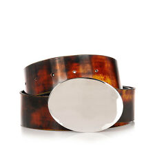 MARTIN MARGIELA MM11 Men Brown Polished Leather Belt Made in Italy