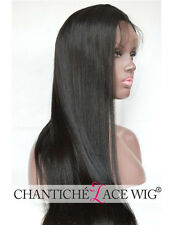 Lace Front Wigs Black Women Indian Remy Human Hair Full Lace Wig Yaki Straight