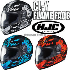 HJC CL-Y Flame Face Youth Full Face Helmet Motorcycle All Sizes & Color 2015