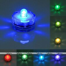 Submersible Waterproof LED Candle Floral Flash Night Light Lamp Wedding Party