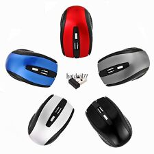 Wireless USB 2.4GHz Optical Mouse + USB Receiver for Laptop PC Computer 8HOT