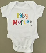 BABY (YOUR BABY'S NAME) PERSONALISED Baby Grow