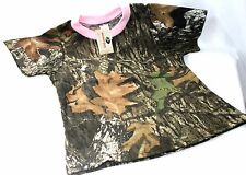 MOSSY OAK CAMO CAMOUFLAGE & PINK GIRLS SHIRT - YOUTH CAMO CLOTHES