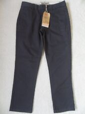 "EX FAT FACE NAVY COTTON STRETCH TAPERED LEG CROPPED CHINO TROUSERS  8  25.5"" LEG"