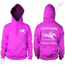 Personalised Horse Riding Show Jumping Hoodie Mens Womens Hoody All Sizes