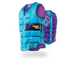 2016 Liquid Force MELODY Ladies Watersports Impact Vest XS-L Aqua Purple 48875