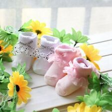 2Sizes Lovely Newborn Baby Kids Bowknot Lace Socks Cotton Warm Booties Accs New