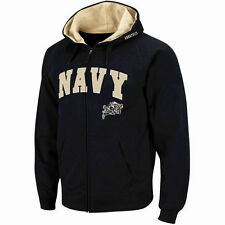 Stadium Athletic Navy Midshipmen Navy Arch & Logo Full Zip Hoodie