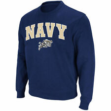 Stadium Athletic Navy Midshipmen Navy Arch & Logo Crew Pullover Sweatshirt