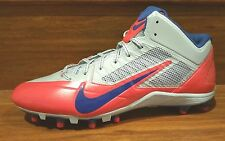 New Nike Alpha Pro TD Mid Football Cleats Mens Size 15 Blue Gray Red 622306-021
