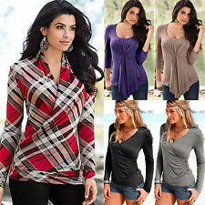 Sexy Women Casual V Neck Long Sleeve T Shirt Sexy Slim Fit Pullover Tops Blouses