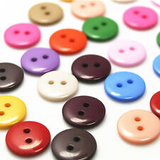 100Pcs Plastic Sewing Buttons Scrapbook 15mm 2 Holes for Craft DIY Buttons Fine