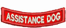 Assistance Patch Service Dog Patch Rocker Down Dog Vest Patch Black Red White