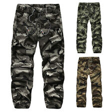 Mens Casual Military Army Combat Camo Pants Camouflage Trousers Work Cargo Pants