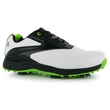 Dunlop Waterproof Leather Biomimetic 300 Golf Shoes Mens White Golfing Footwear