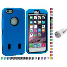 For Apple iPhone 6 (4.7) Hybrid Armor Case Cover LCD Accessories USB Charger