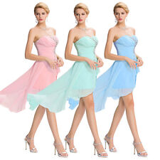 High Low Dress Chiffon Bridesmaid Ball Gown Prom Cocktail Party Sexy Dresses