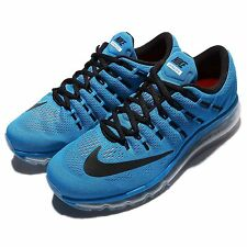 Nike Air Max 2016 Blue Black Mens Running Shoes Sneakers 360 Trainers 806771-408