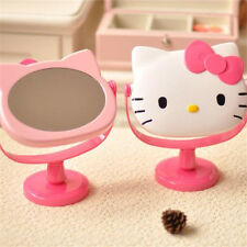 New Cute Hello Kitty Desk Table Pink Bow Make-up Mirror Cosmetic Mirror Free