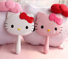 New Cute Hello Kitty Handheld Portable Make-up Mirror Cosmetic Mirror Nice