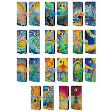 OFFICIAL DREW BROPHY SURF ART LEATHER BOOK WALLET CASE FOR SAMSUNG PHONES 1