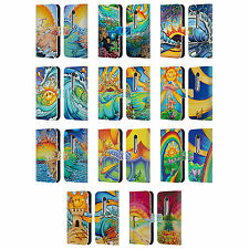 OFFICIAL DREW BROPHY SURF ART LEATHER BOOK WALLET CASE COVER FOR MOTOROLA PHONES
