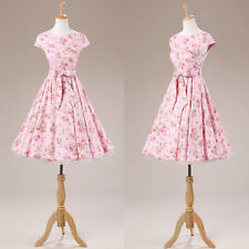 Women Vintage Retro 50s Swing Pinup Rockabilly Evening Party Prom Cocktail Dress