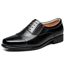 MENS WORK/SAFETY SHOES DURABLE BUSINESS SHOES  LEATHER OCCUPATIONAL SHOES BLACK