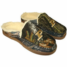Purdue Boilermakers Sherpa-Lined Hooded Scuff Slippers - Camo