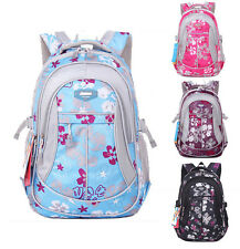 Boys Girls Children Canvas Waterproof Student School Backpack Book Bag Rucksack