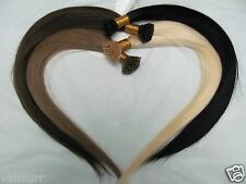 Custom Single Drawn Pre-Tip Keratin Fusion Silky Straight Human Hair Extensions