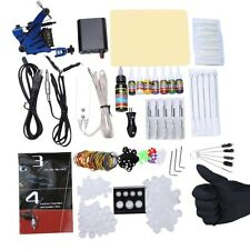 Complete Beginner Tattoo Kit Machine Guns Power Supply Needles Inks Grip