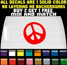 PEACE VINYL DECAL BUMPER STICKER CAR LAPTOP TRUCK WAVY BUY 2 GET 1 FREE
