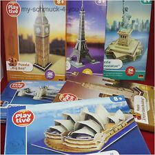 3D Puzzle famous Buildings Eiffel Tower Statue of liberty Big Ben Bridge etc.