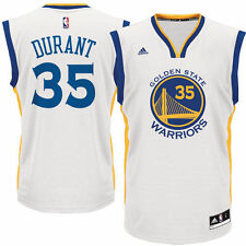 adidas Kevin Durant Golden State Warriors White Replica Basketball Jersey