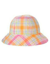 NWT Gymboree BY THE SEASHORE Pink Plaid Reversible Sun Hat