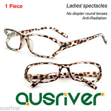 Fashion Ladies Anti-Radiation Lenses Full Rim Plastic Eyeglasses Frame Spectacle