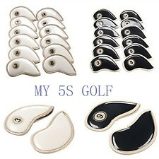 12pcs Golf Club Cover PU Leather Iron Head Cover Headcover For Taylormade