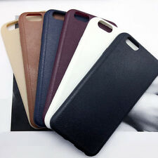 Ultra thin Leather Grain Soft TPU Case Cover For Apple iPhone 5 5s 6 6s Plus