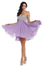 Short Homecoming Formal Prom Dress Strapless Cocktail Plus Size