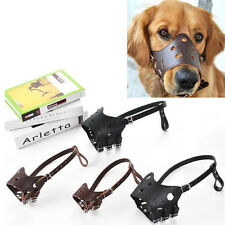 Pet Dog Adjustable Mask Anti Bark Bite Mesh Soft Mouth Muzzle Groom Chew Stop
