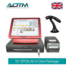 "Complete 15"" Touch Screen EPOS POS All In One Till System For Retail"