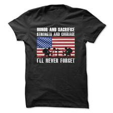 Veterans Never Forget - Military T-Shirt 100% Cotton Army Navy Air Force Marines